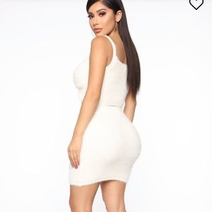 Fashion Nova Other - 3 piece fuzzy cream set
